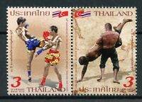 Thailand 2018 MNH Joint Issue JIS Turkey Thai Boxing Wrestling 2v Set Stamps