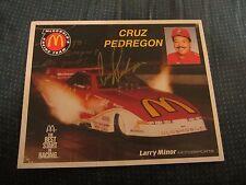 Cruz Pedregon Driver Autographed Signed 8X10 Photo NHRA Racing