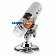 MICROSCOPIO DIGITALE USB 200x 200 x PC FOTO VIDEO LED NUOVO Gruppofas