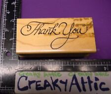 THANK YOU FANCY RUBBER STAMPS ART IMPRESSIONS G-463
