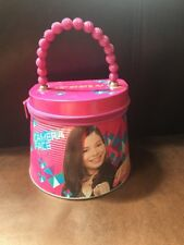 iCarly Round Tote Carry All Tin Box Lunchbox Lunch Box with Zipper New