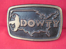 Vintage Dowty Coal Miner Brass Belt Buckle