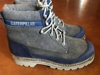 NEW CATERPILLAR CAT MEN'S LINEAGE CANVAS AND LEATHER BOOT, 9M - FREE SHIP