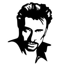 Sticker autocollant Johnny Hallyday