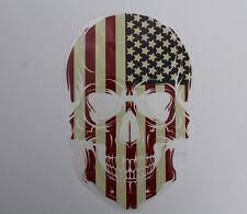 Aufbügler Transferfolie Totenkopf USA ca. 26 x 16,5 cm Schädel Skull Bügelbild