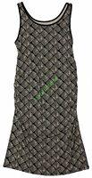 New Liz Lange Women's Maternity Tank Dress Black Beige Ruching NWT Size XS S M