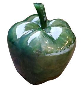 55mm x 70mm Genuine Canadian Nephrite Carved Apple - Freestanding Figurine