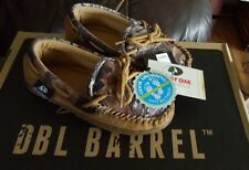 M&F Western Moccasin Slippers Dbl Barrel Youth Kids Size 1/2 Camo