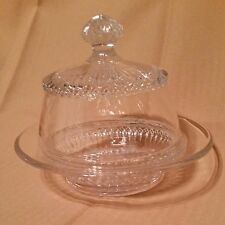 Vintage Glass Tent Dome Butter Dish