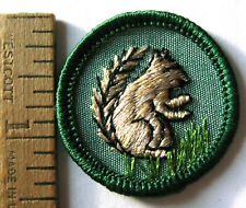 Rare 1960-1963 Girl Scout Mammal Badge Land Animal New Squirrel Patch Transition