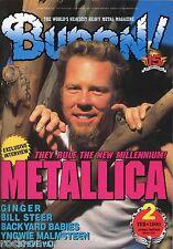 Burrn! Heavy Metal Magazine February 2000 Japan Metallica Deep Purple Korn