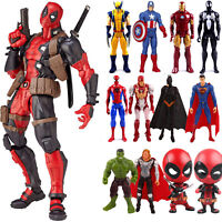 Marvel Avengers Deadpool Spiderman Super Hero Model PVC Action Figure Doll Toys