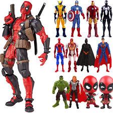 Deadpool Spiderman Captain America Marvel Avengers Model PVC Action Figure Toys