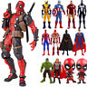 Deadpool Spiderman Captain America Marvel Avengers Model PVC Action Figures Toys