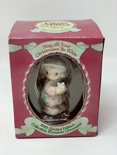 Enesco Precious Moments Ornament May All Your Christmases Be White 1999 Ltd Ed.