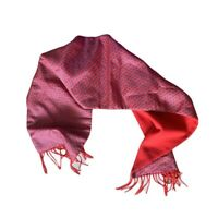 Classic Burgundy Reversible paisley Print scarf by The Cuff Elegant Evening Ware