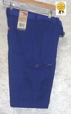 NEW Levis Boys Cargo Shorts Belted Blue Solid Relaxed Youth size 18