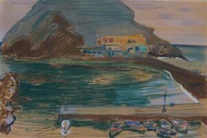 Ischia 1958, signiert, Sant'Angelo, Gilles