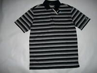 NIKE GOLF Dr-Fit Stay Cool BLACK Stripe Polo Shirt Mens Size MEDIUM  $65 NEW