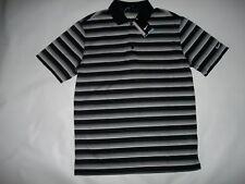 Nike Golf dr-fit Stay Cool nero a righe t-shirt polo Uomini Taglia M/