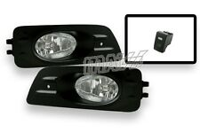 06-07 Honda Accord 2DR Coupe JDM Clear Fog Lights Lamps w Switch & Wiring Kit