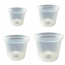 Growers Assortment - Crystal Clear Slotted Orchid Pots (4 pots, 1 of each size)