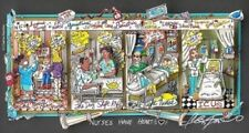 "Charles Fazzino ""Nurses Have Heart"" Hand Signed Numbered 3D Serigraph"