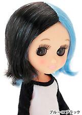 Petworks Sekiguchi Odeco Chan doll Wig Punk Blue & Black