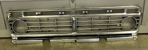73 74 75 76 77 Ford Truck F150 F250 F350 Bronco FRONT ALUMINUM OUTER GRILLE OEM