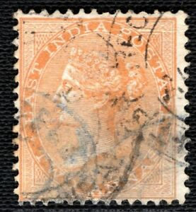 INDIA QV Stamp 2a Postmark Used ex Old-time Collection{samwells-covers}YELLOW318