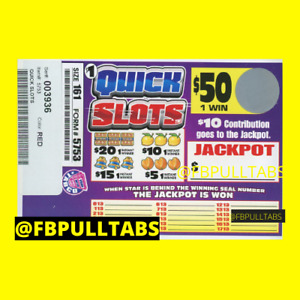 QUICK SLOTS - 161 PULL TABS - $61 PROFIT - DONT USE JACKPOT SEAL MAKE EXTRA $10