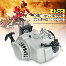 2 Stroke Pull Start Engine Motor 49cc Mini Pocket PIT Quad ATV Dirt Bike Scooter