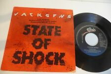 """THE JACKSONS 45T STATE OF SHOCK / YOUR WAYS. 7"""" EPIC HOLLAND PRESS."""