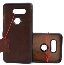 Genuine leather case for LG V30 magnetic soft rubber slim cover handmade holder