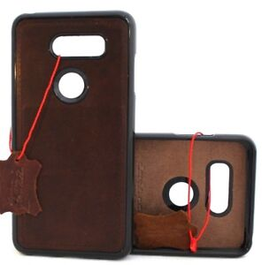 Genuine leather case for LG V30 magnetic soft rubber slim cover handmade holder