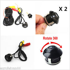 12V 2in1 Wide Angle Autos Reverse Rearview Mini CCD Camera Kits  NTSC/PAL Format