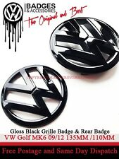 VW Golf mk6 POSTERIORE NERO LUCIDO & anteriore griglia Badge emblema 2009-2012 GTI TDI TSI