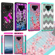 For Samsung Galaxy Note 9 Shockproof Hybrid Hard Diamond Bling Case Phone Cover