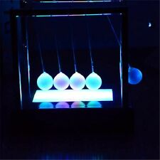 Newtons Cradle LED Light Up Kinetic Energy Home Office Science Toys Gifts