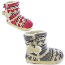 Slumberezz warm boot slippers pretty heart design for women