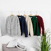 Boys Cardigan Autumn Sweater Long Sleeve Winter Knitted Age 2 3 4 5 6 7 8 9 year