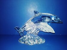 Lenox Dolphin's Sculpture signed Lead Crystal