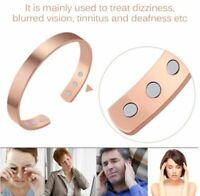 Pure Copper Bracelet Magnetic Arthritis Therapy Energy Healing Pain Relief US