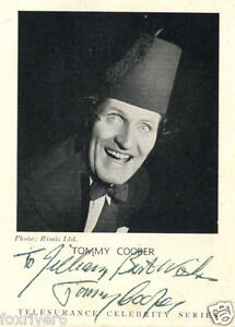 TOMMY COOPER - Signed Photograph - Comedy TV Magician - Preprint