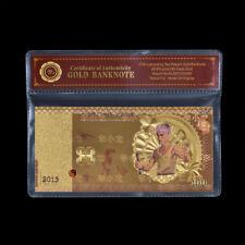 WR 2013 Chinese Kungfu Bruce Lee 100 Yuan Commemorative 24K Gold Banknote /w COA