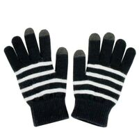 Fosmon Universal Touchscreen Gloves with 3 Conductive Finger Tips - Black/White