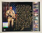 Navy SEAL Robert O'Neill Signed Bin Laden Raid Story Photo 16x20 13/911 PSA