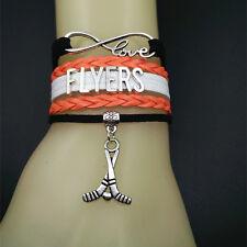 Philadelphia Flyers Handmade Bracelets Infinity love NHL Hockey Bracelets