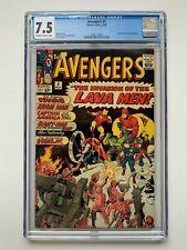 THE AVENGERS #5, Marvel Comics, CGC 7.5 grade, Hulk & Lava Men appearance