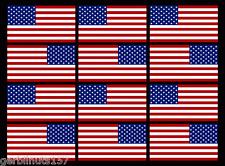 "New listing American Flag stickers decals 2"" (6) Mirrored Sets Usa Us helmet Matte Vinyl"